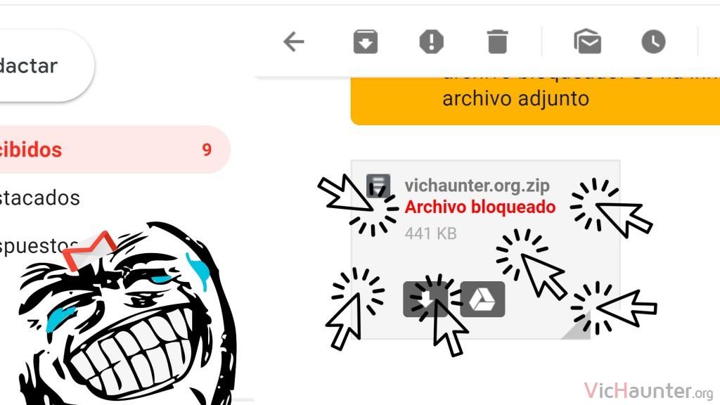 Cómo bajar adjuntos bloqueados de Gmail