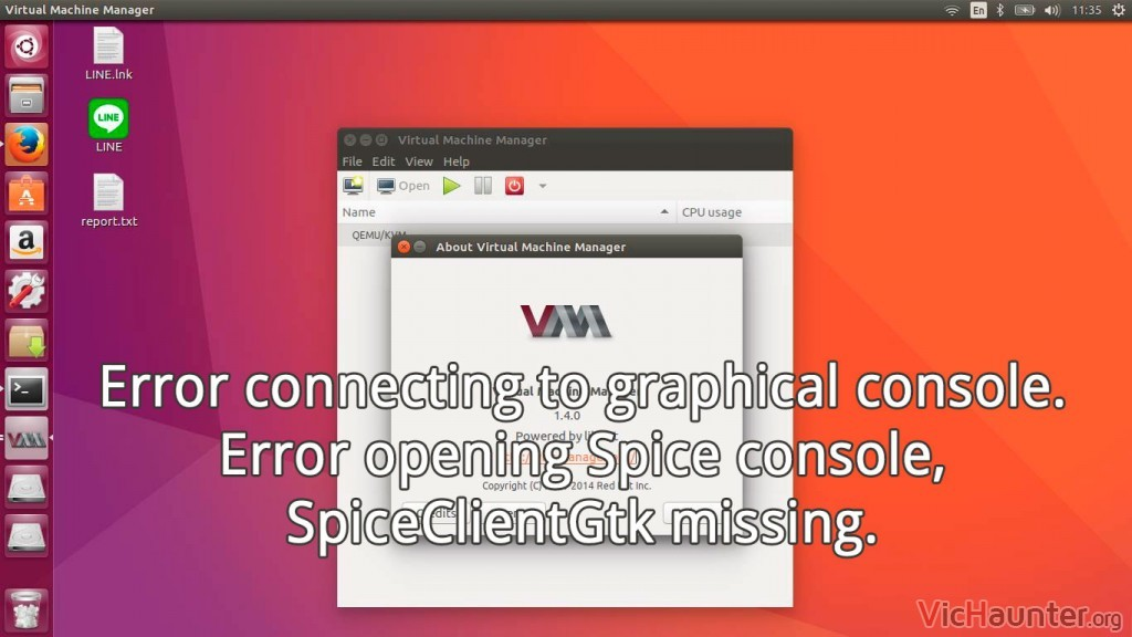 Como solucionar el error connecting console spiceclientgtk missing Ubuntu Mint en VirtManager