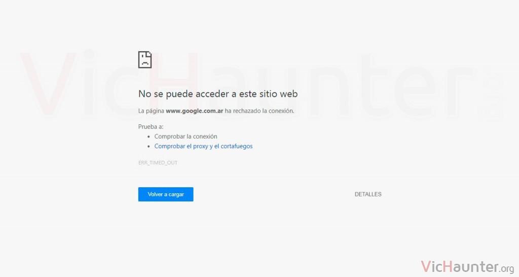 Cómo arreglar Chrome err timed out