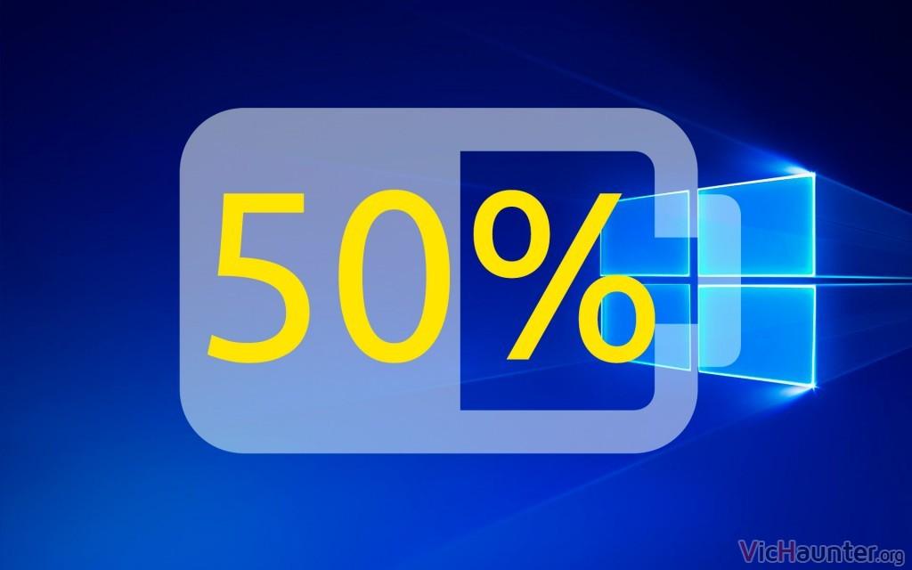 Cómo poner el porcentaje en el icono de batería en Windows 10