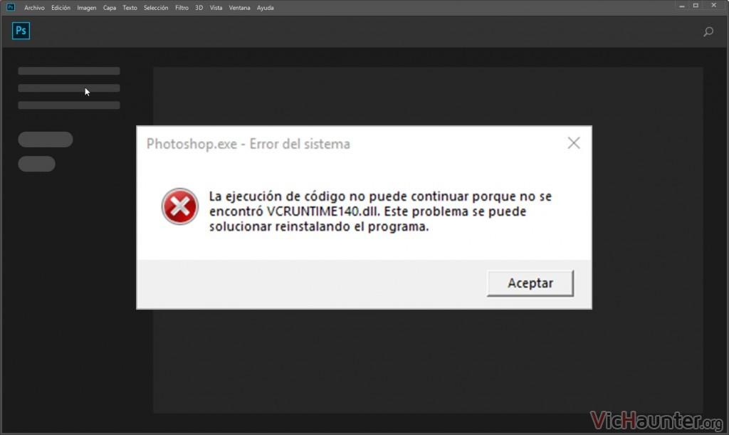 Solución para el error msvcr140 y msvcr100 en windows 10