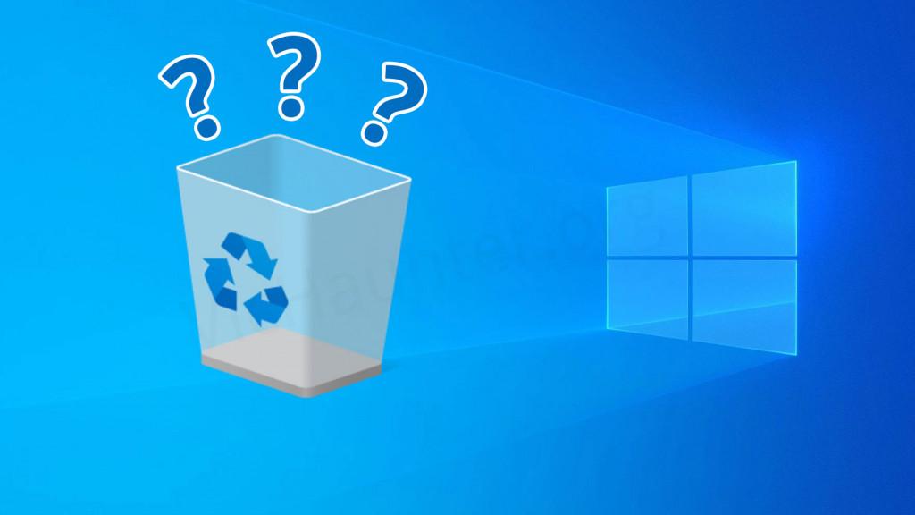 Cómo parar el vaciado de la papelera en Windows 10