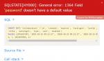 como solucionar general error 1364 field doesnt have default value