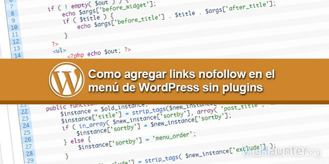 Como agregar links nofollow en el menú de WordPress sin plugins