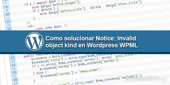 Error Notice: Invalid object kind in Wordpress WPML