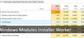 Windows Modules Installer Worker satura mi equipo