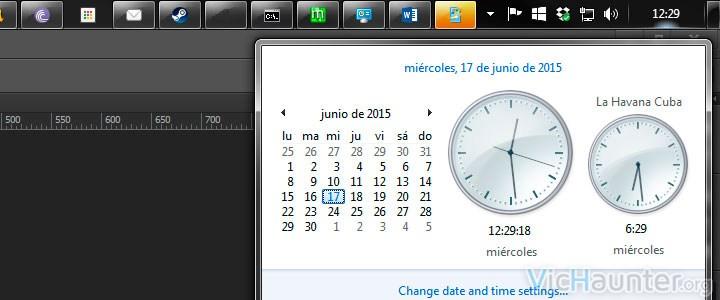 Como agregar varios relojes con distintos husos horarios en Windows