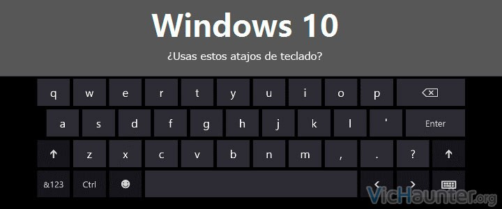 Atajos de teclado para el escritorio virtual de windows 10