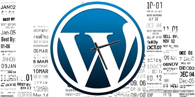 Como cambiar el formato de fecha y hora en wordpress