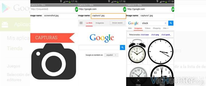 Aplicación para hacer capturas web en android