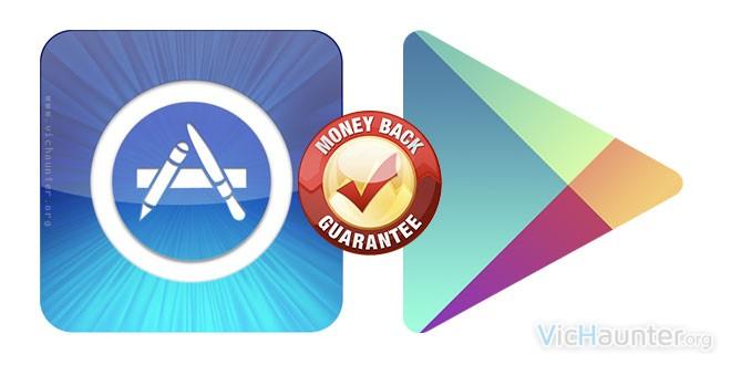 Como hacer devoluciones en google play y app store