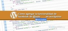Cómo añadir autocompletar en wordpress al estilo facebook
