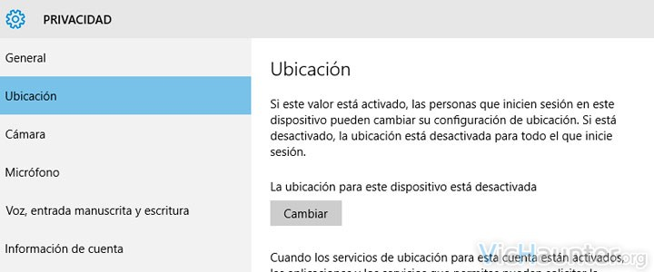 Como bloquear detección de ubicación en windows 10
