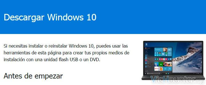 Como descargar windows 10 para instalarlo ya