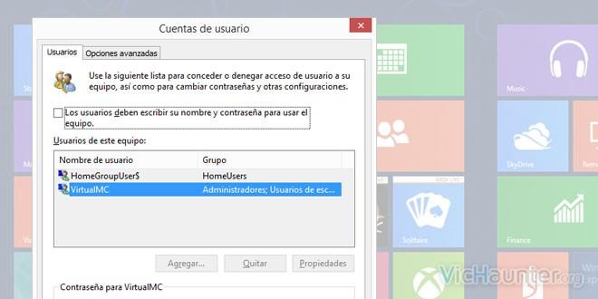 Como deshabilitar la contraseña de inicio en windows 8.1