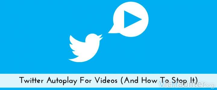 Como deshabilitar la reproducción automática de twitter