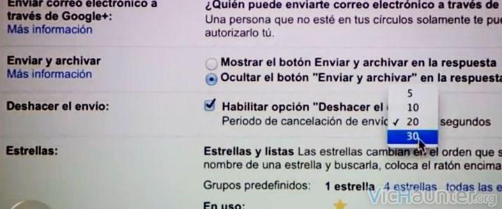como habilitar cancelar envio gmail