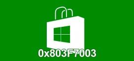 Cómo solucionar el error de Windows Store en Windows 10 0x803F7003