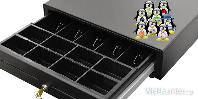 Abrir cajón portamonedas en linux