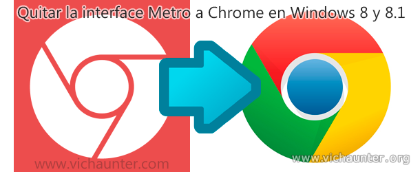 Como salir del modo metro en chrome para Windows 8.1