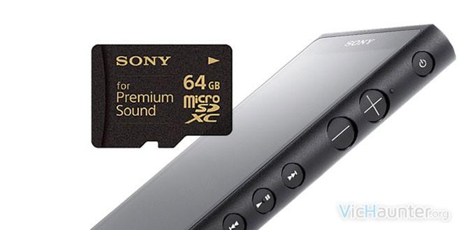 Sony microsd for premium sound en japón