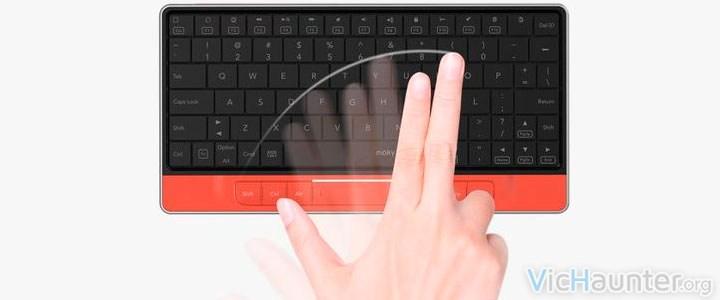 Teclado y touchpad en uno con moky