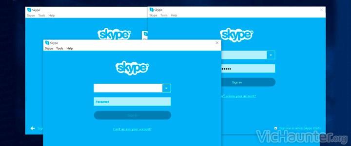 Como usar varias cuentas de skype en cualquier pc