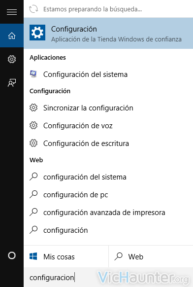 windows 10 configuracion