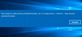 Como cambiar las aplicaciones predeterminadas en Windows 10