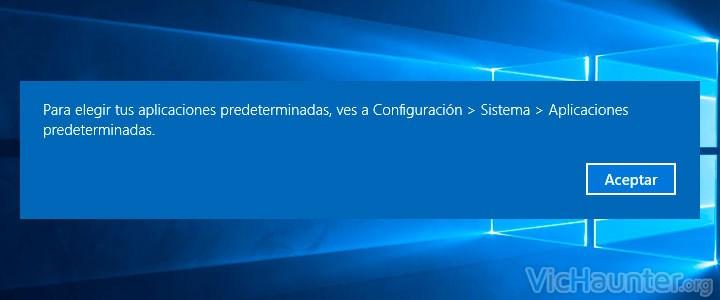 Como cambiar programas predeterminados windows 10